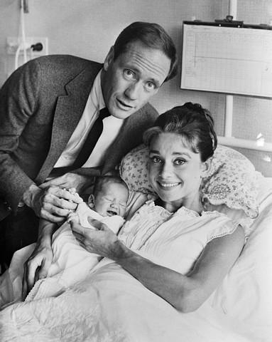 Audrey, o marido Mel e o filho Sean.
