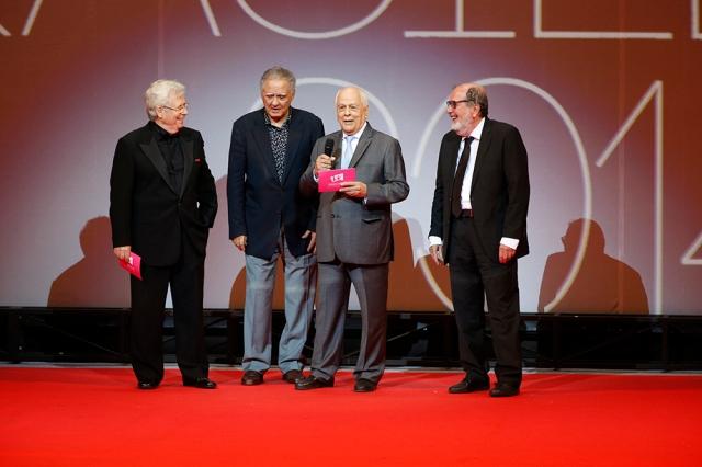 Na ordem: Roberto Farias, Luiz Carlos Barreto, Nelson Pereira dos Santos e Cacá Diegues