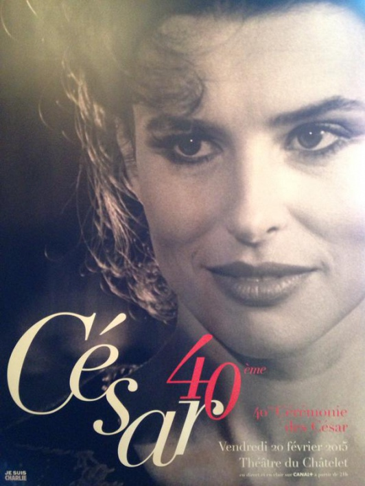 Cartaz da premiação, com a imagem da atriz Fanny Ardant.