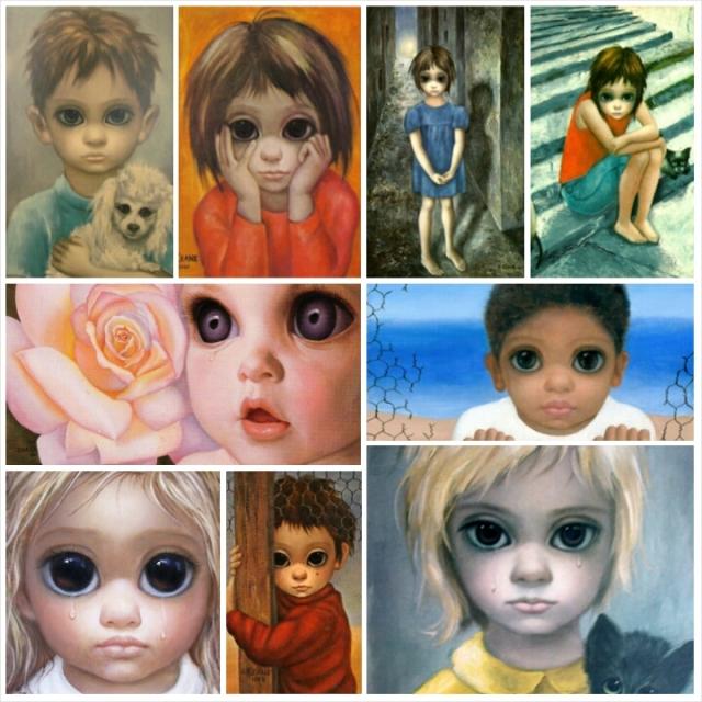 Alguns dos quadros de Margaret Keane