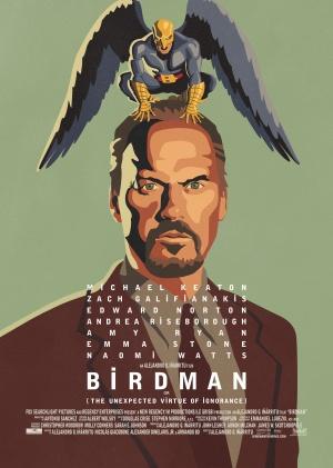 Cartaz oficial de Birdman, que representa bem a loucura do personagem de Michael Keaton