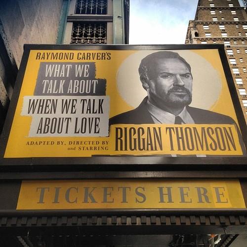 A peça de Riggan Thomson - Do que falamos quando falamos de amor - em cartaz no Teatro St. James